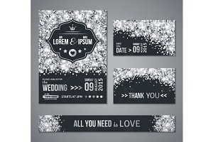 Wedding Cards Silver