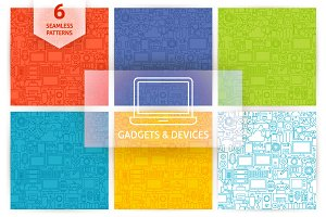 Gadgets & Devices Line Tile Patterns