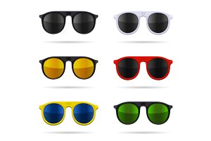 Sunglasses Set with Color Glasses