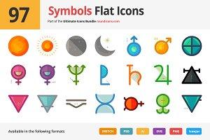 97 Symbols Flat Icons