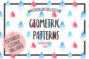 Watercolor Geometric Patterns