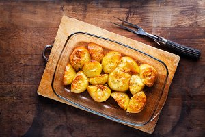 Rustic oven baked potatoes
