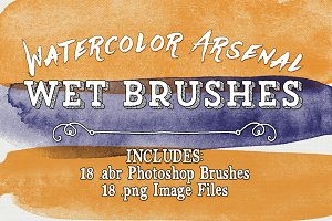 Water Color Arsenal Wet Brushes