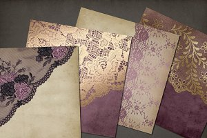 Mauve Purple & Gold Lace Backgrounds