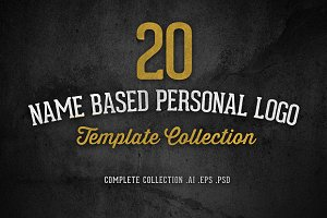 20 Name Based Personal Logo Template