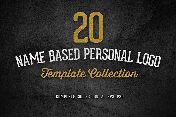 20 Name Based Personal Logo Template Templates Creative Market