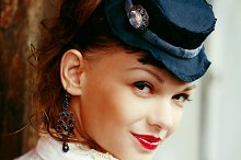Vintage portrait of beautiful woman