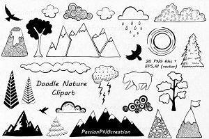 Doodle Nature Clipart