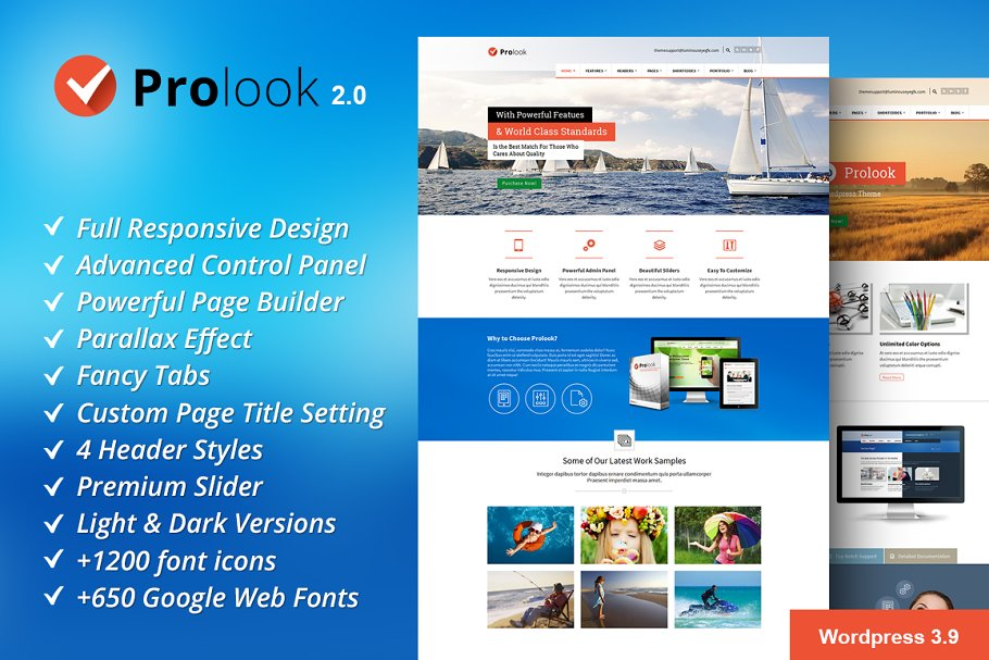 Prolook - Multipurpose Theme ~ WordPress Themes ~ Creative Market