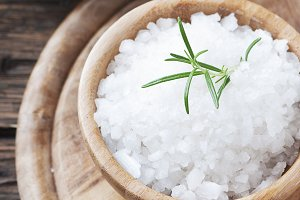 Sea salt and fresh rosemary