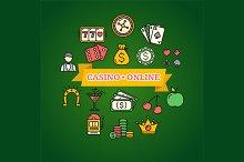 Casino Concept. Vector