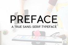 PREFACE SansSerif Typeface & Webfont