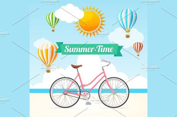 Summer Card. Vector - Illustrations