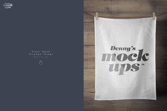 Download Flour Sack Towel Mockup