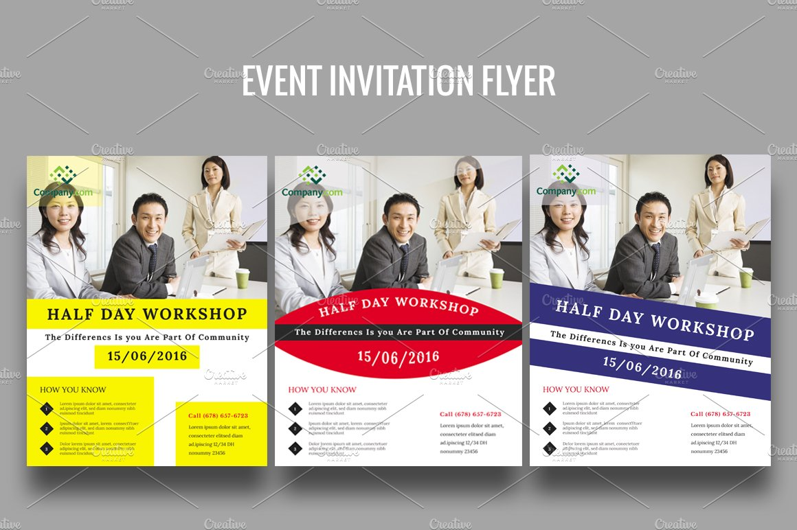 event invitation flyer flyer templates on creative market