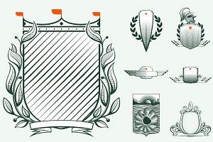 7 Heraldic luxury shields