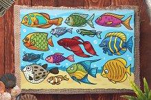 Cartoon Vector Fish Collection