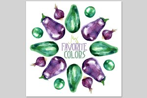 Printable Watercolor Vegetables