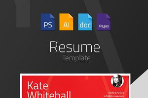 Resume/CV Template - 4 files formats