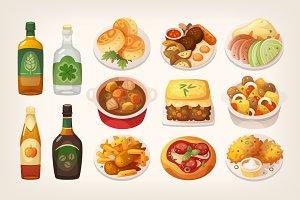 Traditional Irish cuisine meals