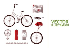 Set Bicycle Accessories