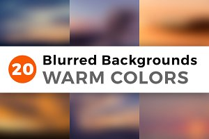 Blurred Backgrounds - Warm Colors