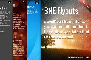 Flyout Custom Content for WordPress
