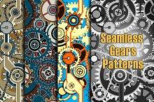 Seamless Gears Patterns Vol.2