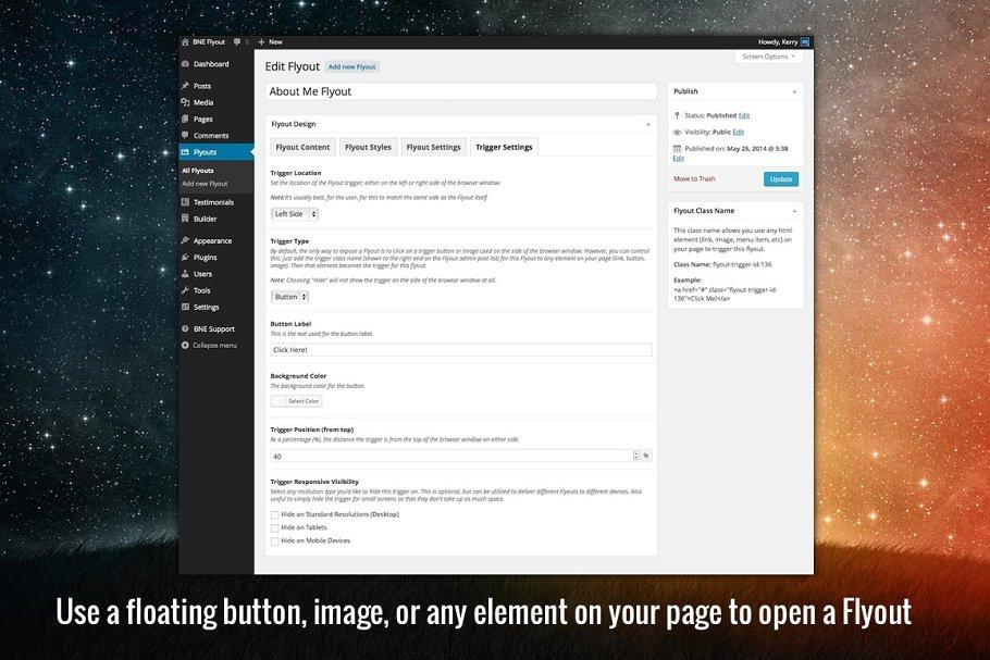 Flyout Custom Content for WordPress ~ Wordpress Plugins ~ Creative
