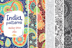 Indian patterns in Vector and JPEG