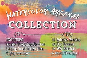 Watercolor Arsenal Collection Bundle
