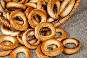 Russian traditional bagels