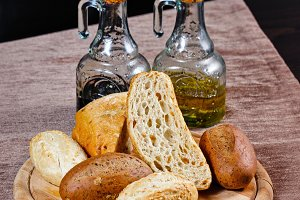 Appetizing baked bread
