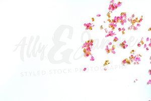Confetti styled stock photography