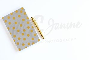 notebook styled stock photography
