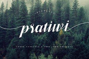 Pratiwi Typeface - Free Swashes