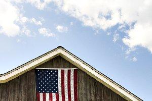 American Flag & Blue Skies
