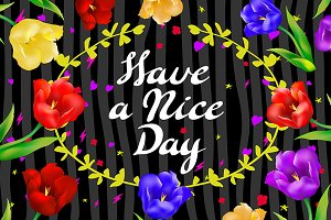 """Have a nice day"" postcard vector"