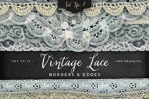 Vintage Lace Borders & Edges 1