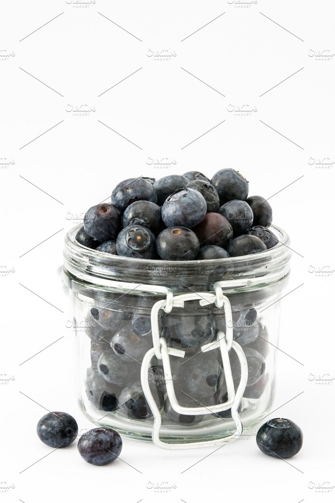Blueberries. Isolated - Food & Drink