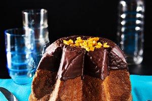 chocolate panettone, christmas cake