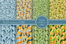 Set of 8 seamless Geometry Patterns