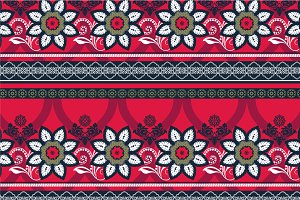 Set of Border Ornamental Patterns