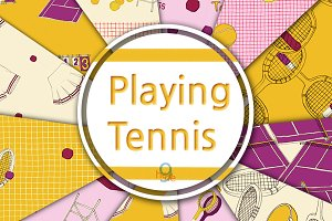 Playing Tennis Pattern & Paper