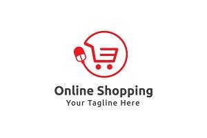 Online Shopping Logo Template
