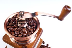 Clouse up of coffee grinder