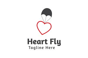 Heart Fly Logo Template
