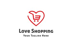 Love Shopping Logo Template