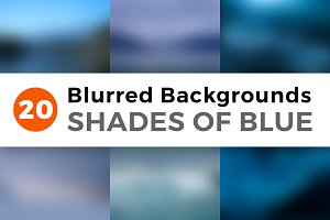 Blurred Backgrounds - Shades of Blue