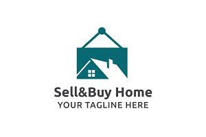 Sell And Buy Home Logo Template